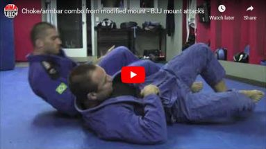 Choke/armbar combo from modified mount