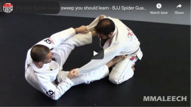 The first Spider Guard sweep you should learn