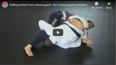 Rolling armbar from closed guard