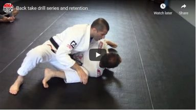 Back take drill series and retention