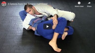 3 Options from Top Inverted Half-Guard