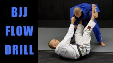 BJJ Flow Drill: Closed Guard, Collar & Sleeve Guard, Tripod Sweep, Knee Slice Pass, Side Control