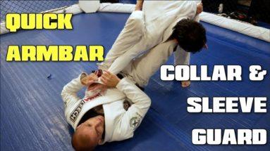 Quick Armbar From Collar & Sleeve Guard