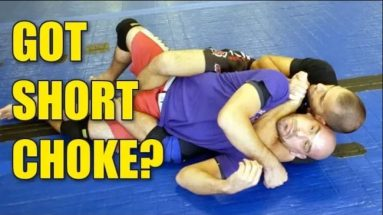 WHEN & HOW TO APPLY THE SHORT CHOKE FROM THE BACK - NO GI BJJ