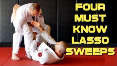 4 Lasso Sweeps Vs. Standing Opponents
