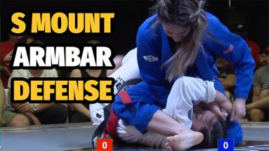 s mount arm bar defense