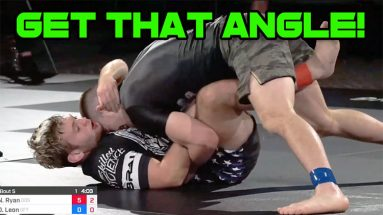 Leg Pummeling Against Knee Shield Half Guard - Nicky Ryan vs Dante Leon
